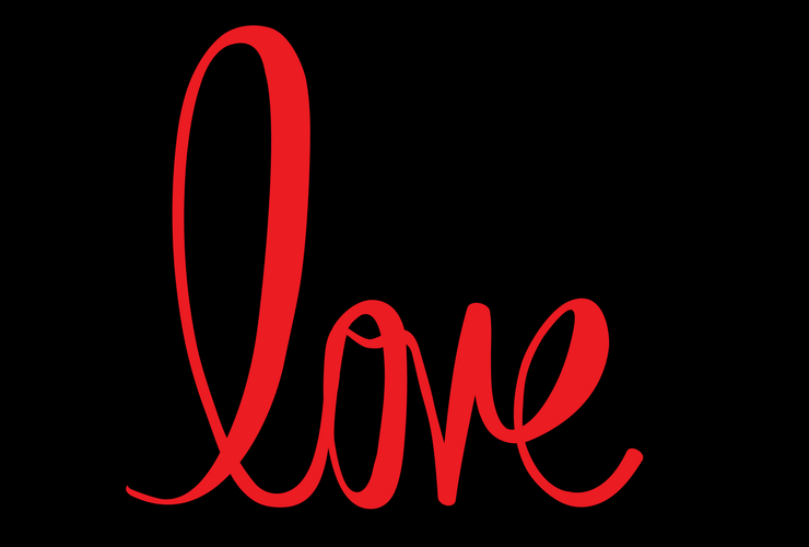 Ideas for the First and second dates, love, red lettering